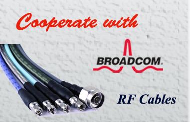 Cable RF de Saluki utilizado en Broadcom (Avago) R&D